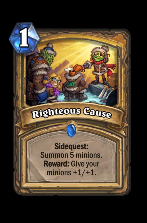 Righteous Cause Hearthstone kártya
