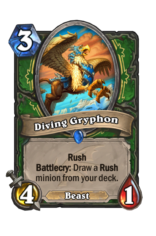 Diving Gryphon Hearthstone kártya