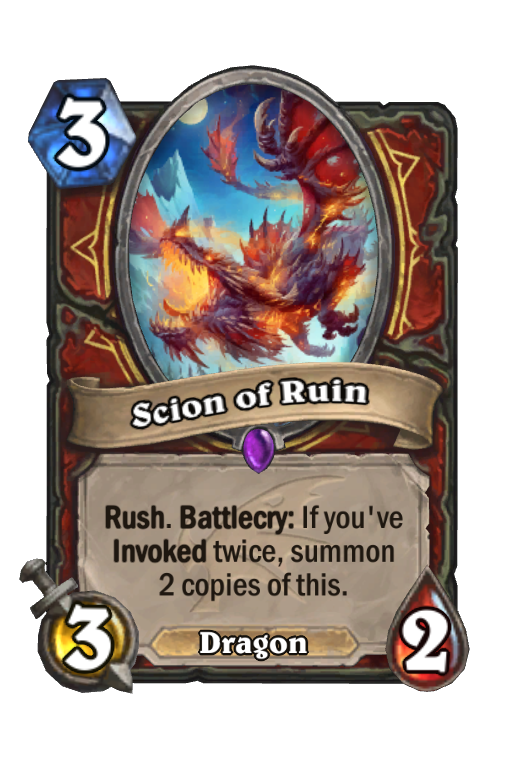 Scion of Ruin Hearthstone kártya