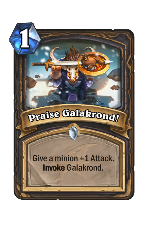 Praise Galakrond! Hearthstone kártya