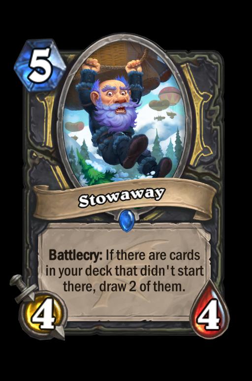Stowaway Hearthstone kártya