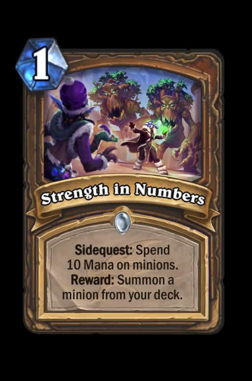 Strength in Numbers Hearthstone kártya