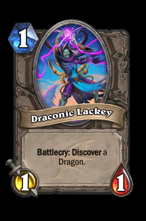 Draconic Lackey Hearthstone kártya