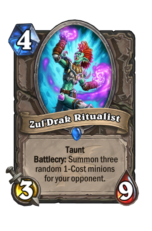 Zul'Drak Ritualist Hearthstone kártya