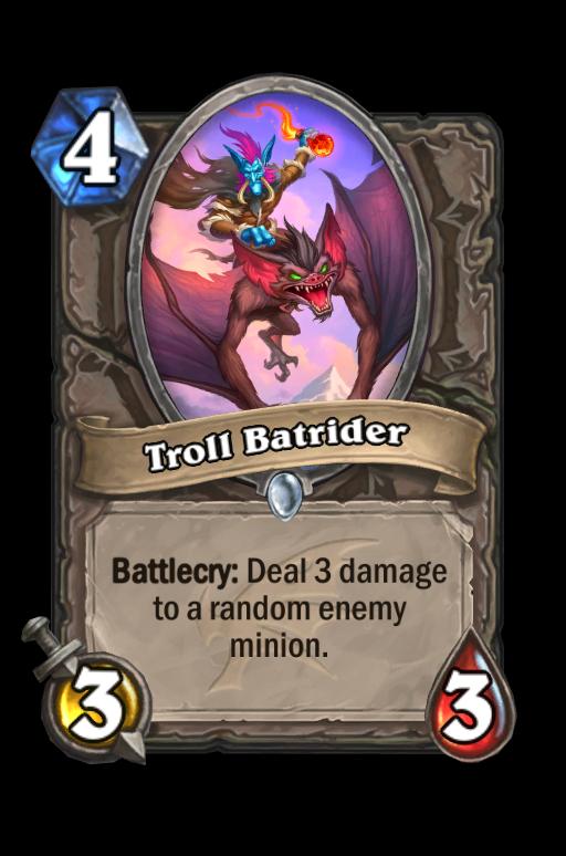 Troll Batrider Hearthstone kártya