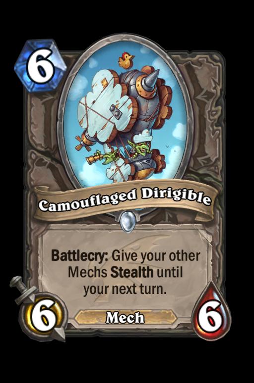 Camouflaged Dirigible Hearthstone kártya