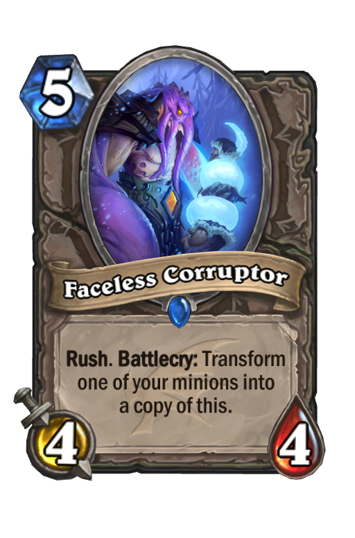 Faceless Corruptor Hearthstone kártya