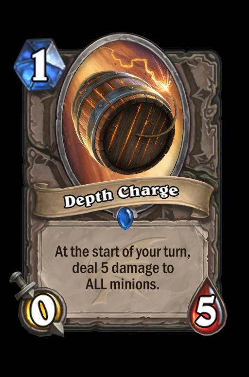 Depth Charge Hearthstone kártya