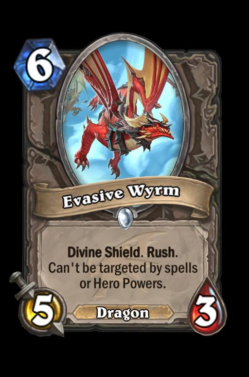 Evasive Wyrm Hearthstone kártya