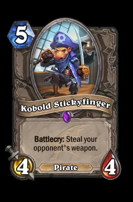 Kobold Stickyfinger Hearthstone kártya