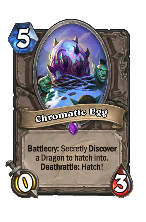 Chromatic Egg Hearthstone kártya