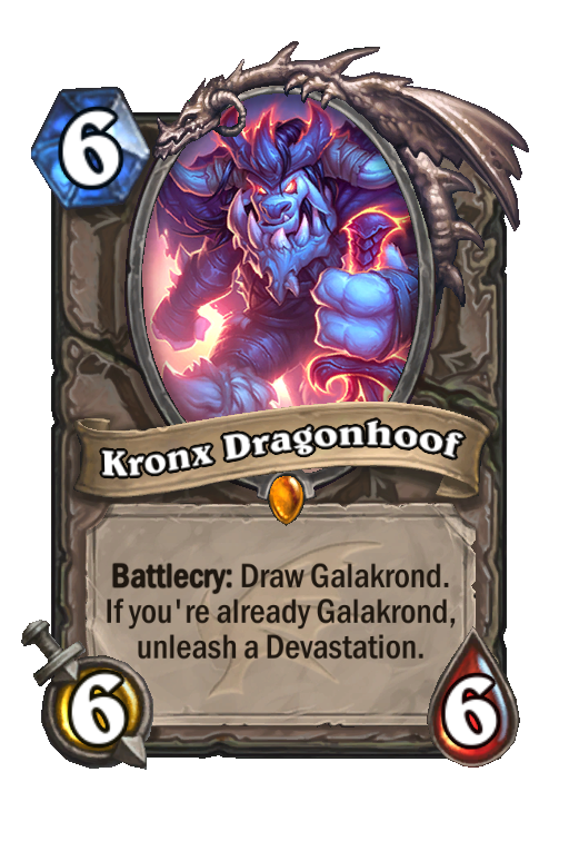 Kronx Dragonhoof Hearthstone kártya