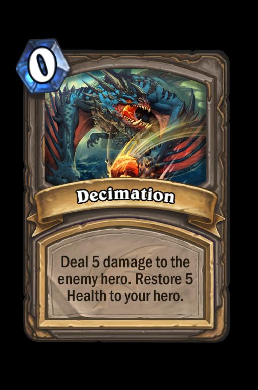 Decimation Hearthstone kártya