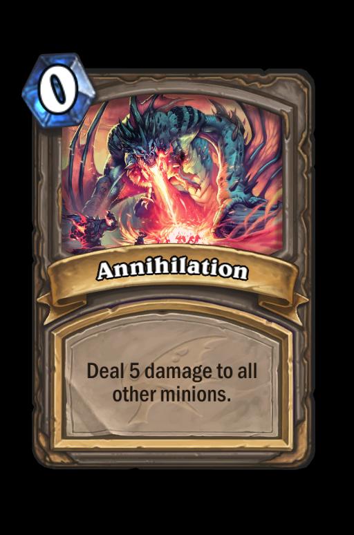 Annihilation Hearthstone kártya