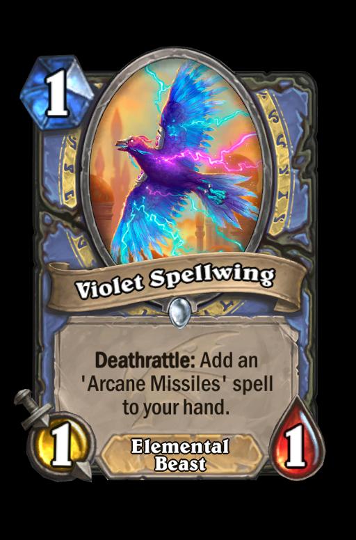 Violet Spellwing Hearthstone kártya