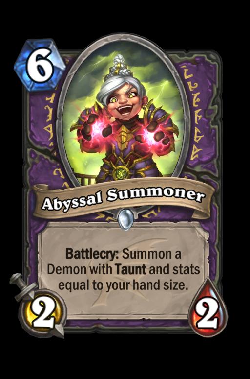 Abyssal Summoner Hearthstone kártya