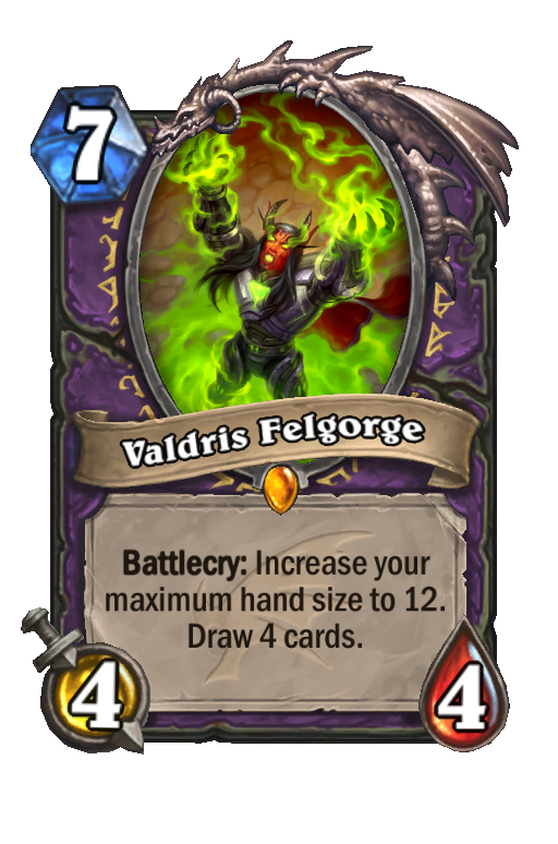 Valdris Felgorge Hearthstone kártya