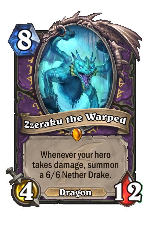 Zzeraku the Warped Hearthstone kártya