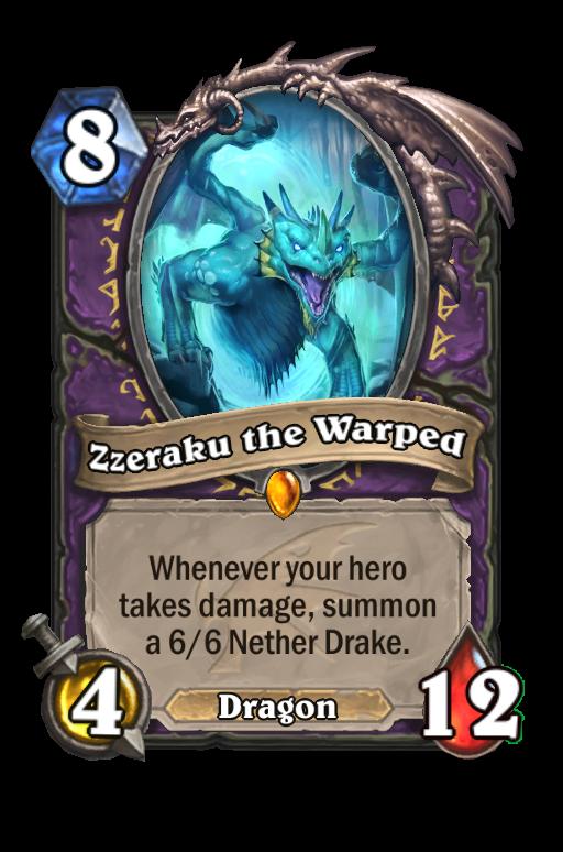 Zzeraku the Warped Hearthstone kártya