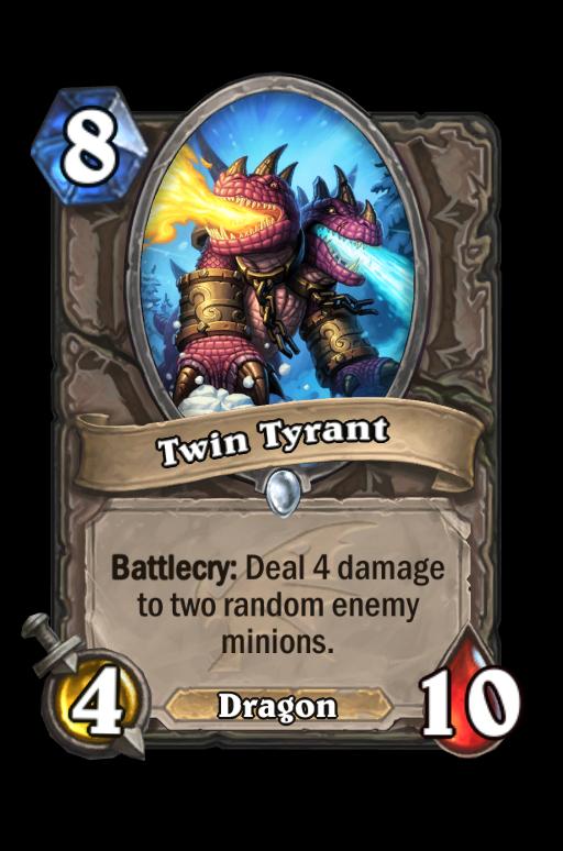 Twin Tyrant Hearthstone kártya