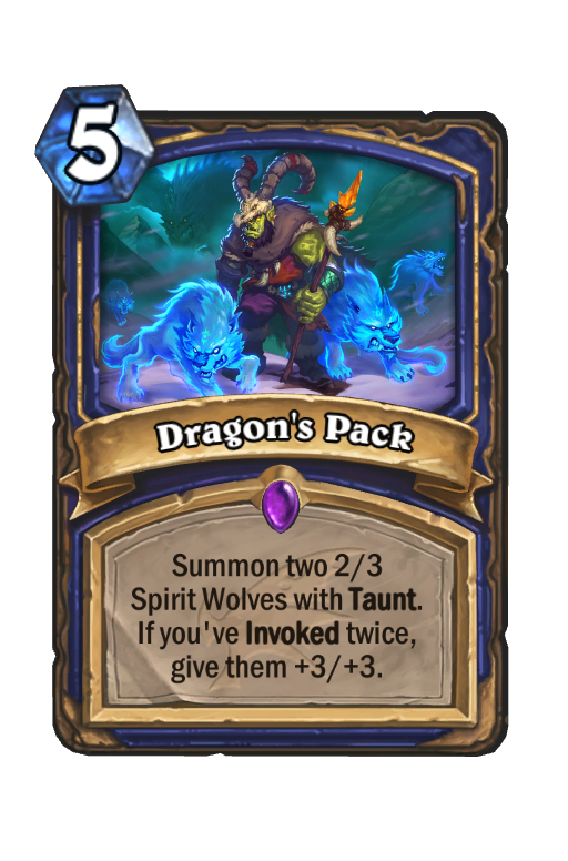 Dragon's Pack Hearthstone kártya