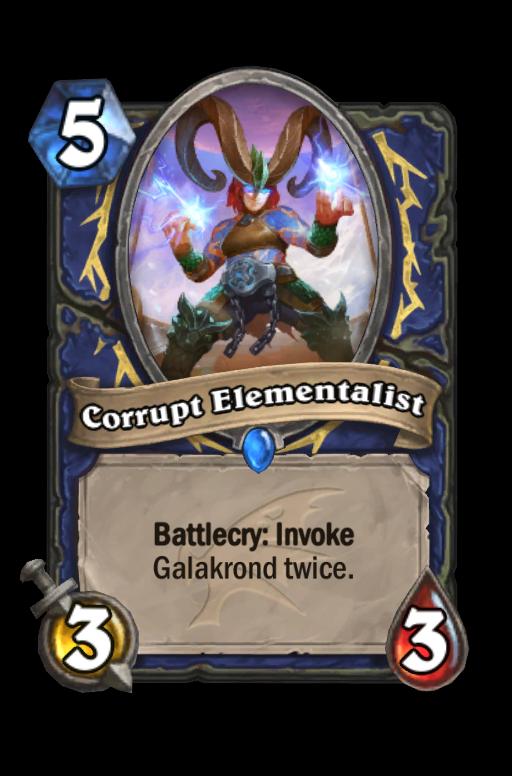 Corrupt Elementalist Hearthstone kártya