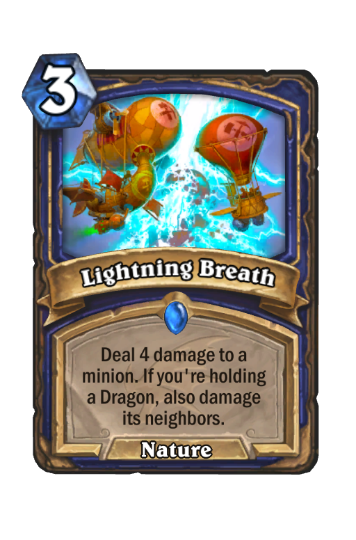 Lightning Breath Hearthstone kártya