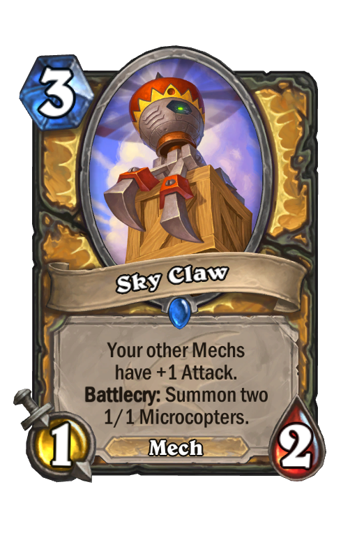 Sky Claw Hearthstone kártya