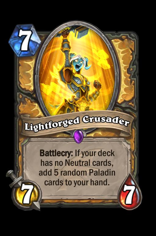 Lightforged Crusader Hearthstone kártya