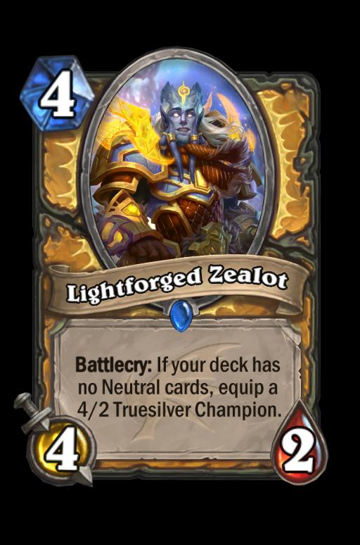 Lightforged Zealot Hearthstone kártya