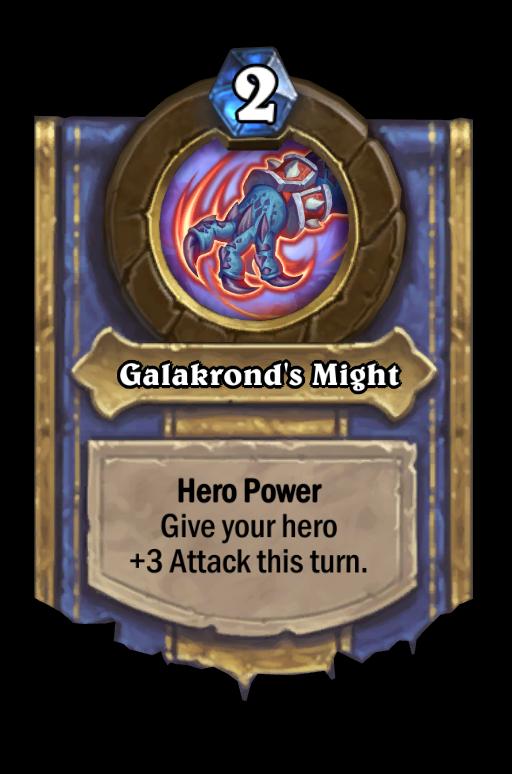 Galakrond's Might Hearthstone kártya