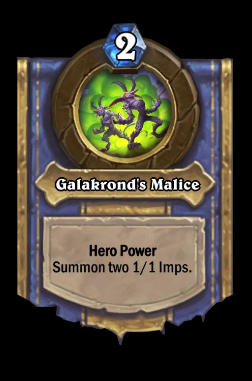 Galakrond's Malice Hearthstone kártya