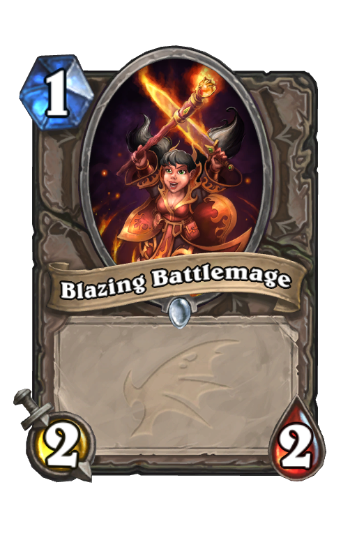 Blazing Battlemage Hearthstone kártya