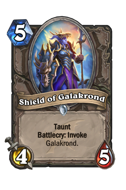 Shield of Galakrond Hearthstone kártya
