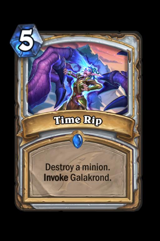 Time Rip Hearthstone kártya