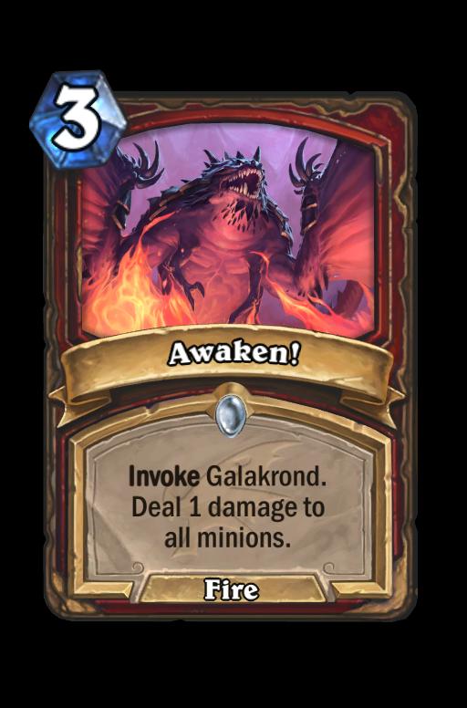 Awaken! Hearthstone kártya