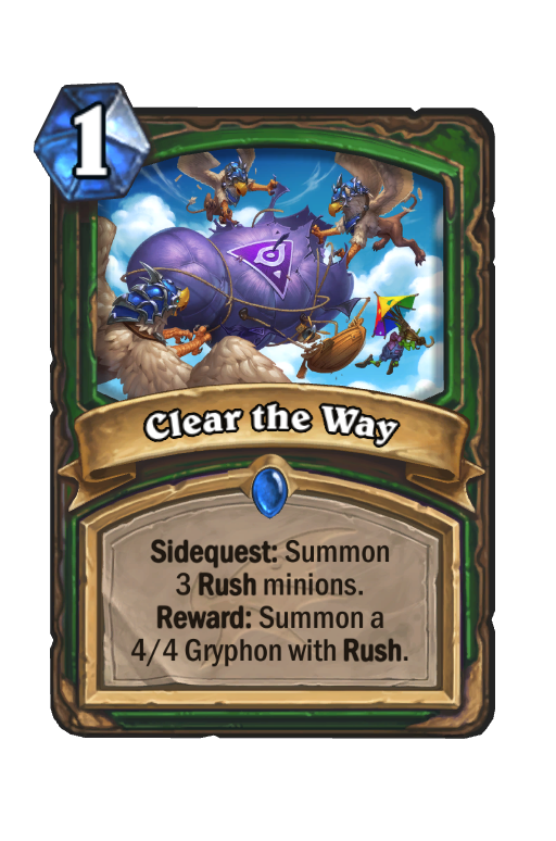 Clear the Way Hearthstone kártya