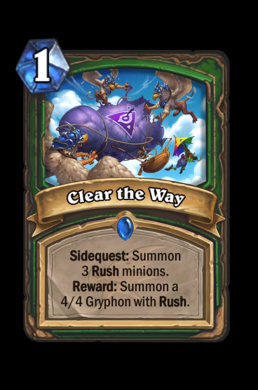 Clear the Way Hearthstone kártya