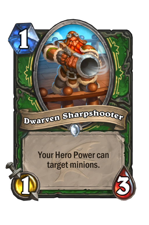 Dwarven Sharpshooter Hearthstone kártya