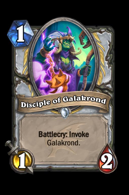 Disciple of Galakrond Hearthstone kártya