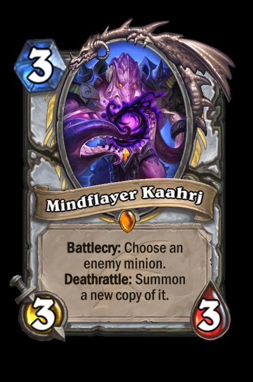 Mindflayer Kaahrj Hearthstone kártya