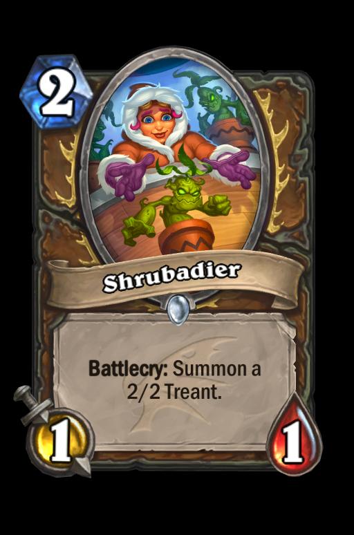 Shrubadier Hearthstone kártya