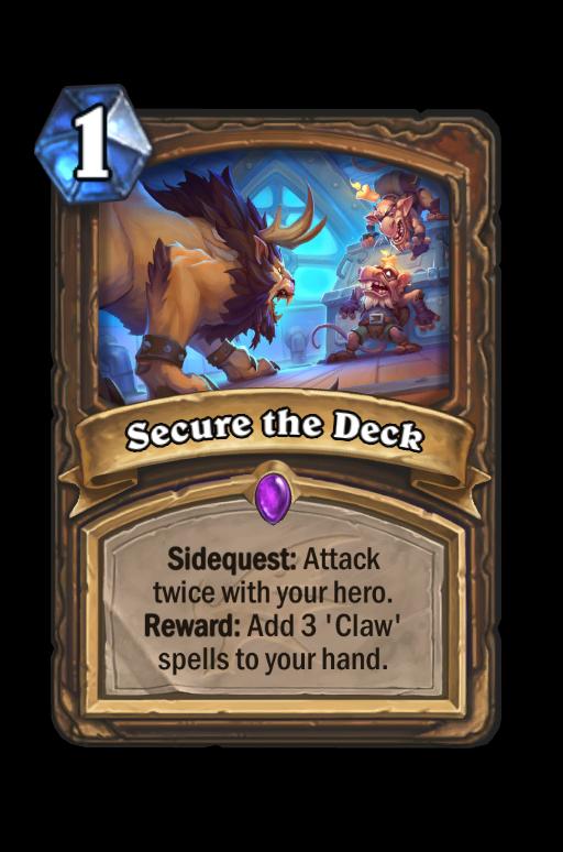 Secure the Deck Hearthstone kártya