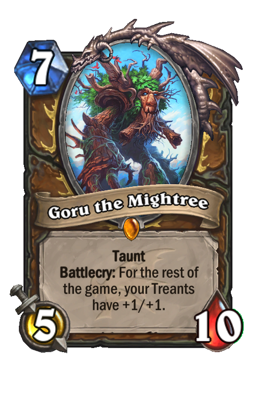 Goru the Mightree Hearthstone kártya