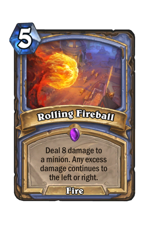 Rolling Fireball Hearthstone kártya