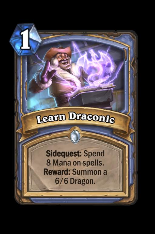Learn Draconic Hearthstone kártya