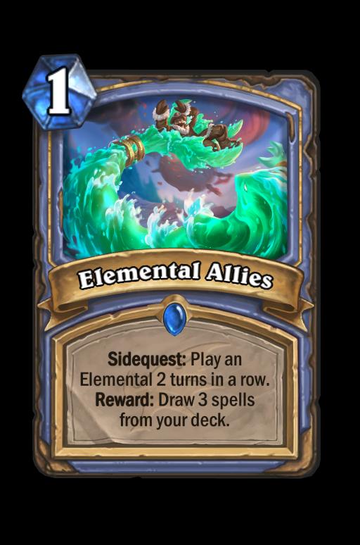 Elemental Allies Hearthstone kártya