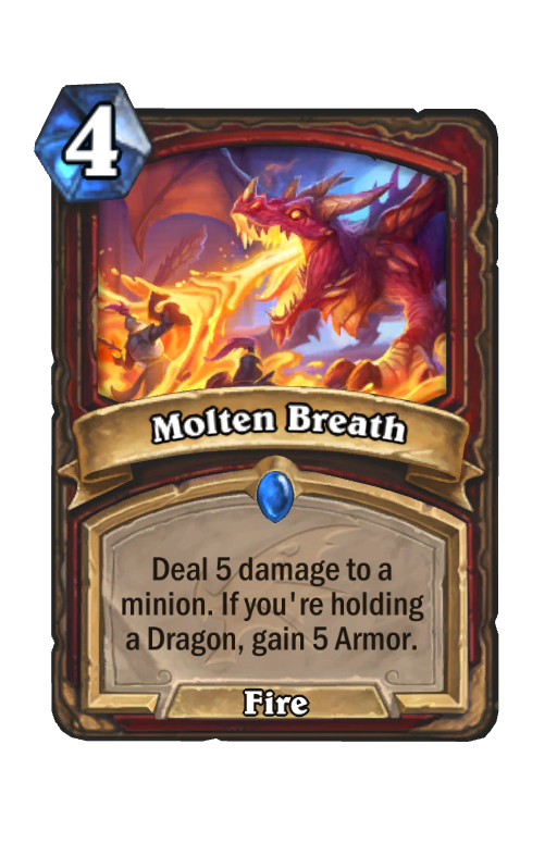 Molten Breath Hearthstone kártya