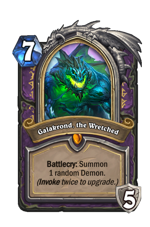 Galakrond, the Wretched Hearthstone kártya