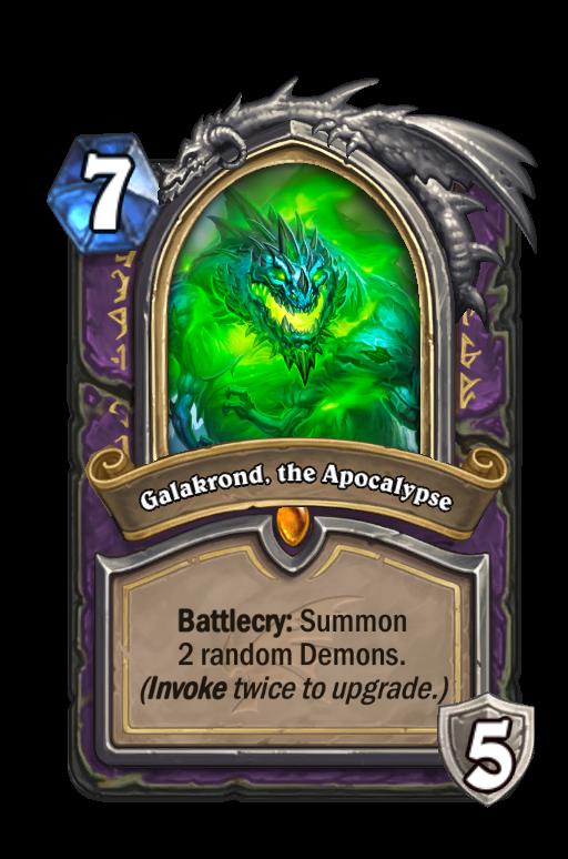Galakrond, the Apocalypse Hearthstone kártya